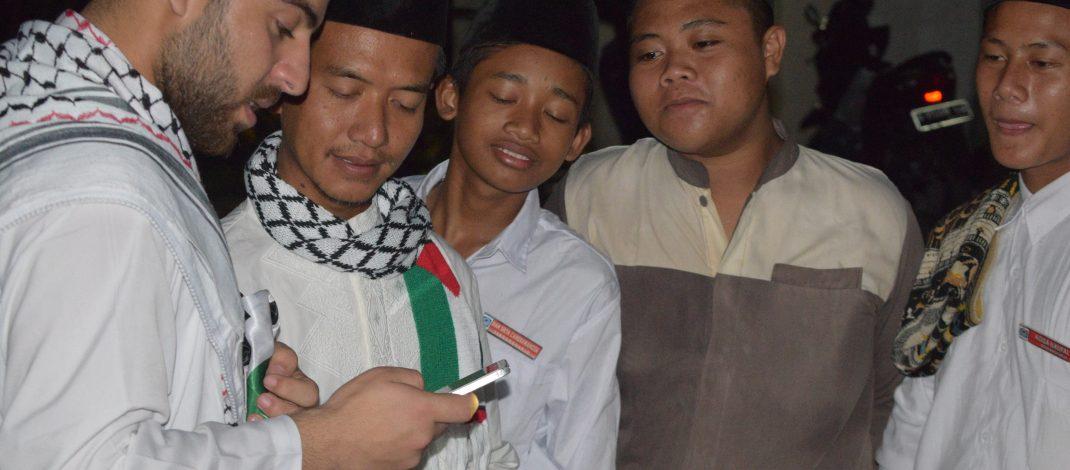 Praktek Muhadatsah langsung Santri dengan Syeikh Oday Al-Akhras